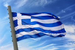 flaga Greece Zdjęcia Stock