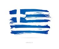 flaga Greece Abstrakcjonistyczny pojęcie Obraz Royalty Free