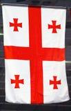 Flaga Gruzja Zdjęcia Stock