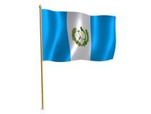 flaga Guatemala jedwab. royalty ilustracja
