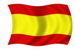 flaga hiszpańska Obrazy Stock
