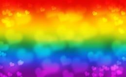 Flaga Homoseksualnej dumy ruch z zamazanymi sercami ilustracja wektor