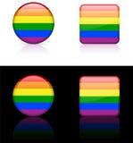 flaga homoseksualny dumy świat Obraz Stock