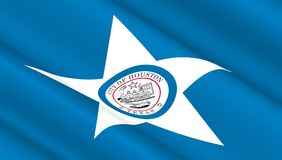 Flaga Houston Fotografia Stock