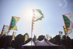 Flaga I markiza Przy Plenerowym festiwalem muzyki Fotografia Stock