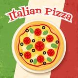 Flaga i pizza Zdjęcia Royalty Free