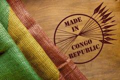 Flaga i znaczek robić w republice Kongo Obraz Stock