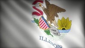 Flaga Illinois royalty ilustracja