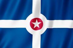 Flaga Indianapolis miasto, Indiana USA ilustracji