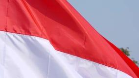 Flaga Indonezja kraju latać plenerowy zdjęcie wideo