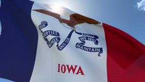 Flaga Iowa falowanie w wiatrze zbiory wideo