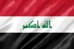 flaga Iraku fotografia stock