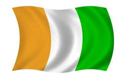 flaga ivoir cote d Fotografia Royalty Free