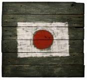 Flaga Japan na drewnie Zdjęcia Royalty Free