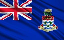 Flaga flaga kajman wyspy - podatek przystań ilustracja wektor