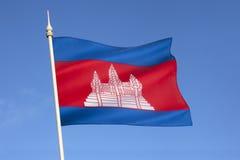 Flaga Kambodża, Azja Południowo-Wschodnia - Fotografia Stock