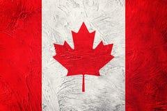 flaga kanady crunch Kanada flaga z grunge teksturą Zdjęcie Royalty Free