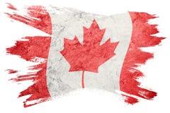 flaga kanady crunch Kanada flaga z grunge teksturą Szczotkarski strok Obrazy Stock