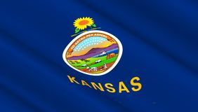 Flaga Kansas stan Zdjęcia Stock