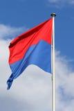 Flaga kanton Ticino zdjęcia stock
