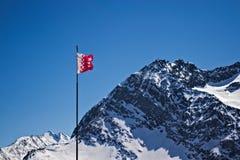Flaga kanton Wallis obrazy royalty free