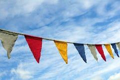 flaga kolorowy sznurek obraz royalty free