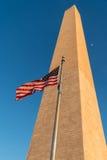 Flaga, księżyc i zabytek, Obrazy Royalty Free