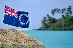 Flaga Kucbarskie wyspy - Kucbarskie wyspy chorąży Obrazy Stock