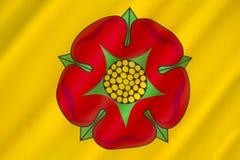 Flaga Lancashire, Zjednoczone Królestwo - Zdjęcia Stock