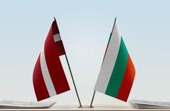Flaga Latvia i Bułgaria obrazy stock