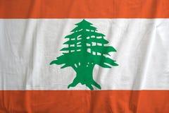 Flaga Liban falowanie fotografia stock