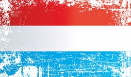 Flaga Luksemburg, Uroczysty Duchy Luksemburg Marszczący brudni punkty ilustracja wektor