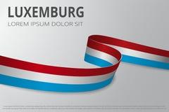 Flaga Luxemburg tło Luksemburg faborek Karcianego układu projekt również zwrócić corel ilustracji wektora ilustracja wektor