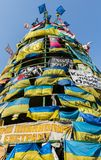 Flaga majdan Kijów Zdjęcia Royalty Free