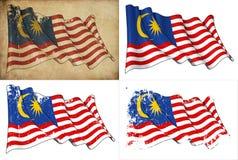Flaga Malezja Obrazy Stock