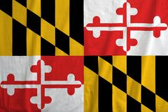 Flaga Maryland, usa fotografia stock