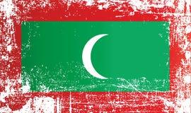 Flaga Mauritius, zamorski region Francja Marszczący brudni punkty chor?gwiani Maldives Marszczący brudni punkty zdjęcia stock