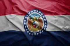 Flaga Missouri stan obraz stock