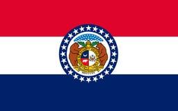 Flaga Missouri, usa fotografia stock