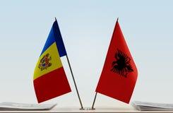 Flaga Moldova i Albania zdjęcie royalty free
