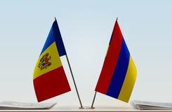 Flaga Moldova i Armenia obraz stock