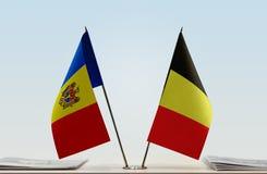 Flaga Moldova i Belgia zdjęcie royalty free