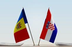 Flaga Moldova i Chorwacja zdjęcia royalty free