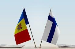 Flaga Moldova i Finlandia zdjęcie royalty free