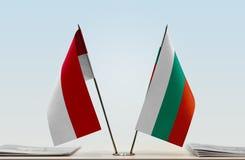 Flaga Monaco i Bułgaria obraz royalty free