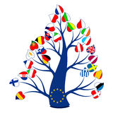 Flaga na drzewie Zdjęcie Stock