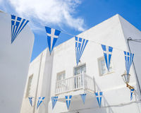 Flaga na Mykonos Fotografia Stock