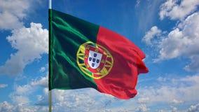 Flaga na niebie Zdjęcie Stock