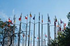 Flaga na tle lata niebo Obrazy Stock