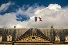 Flaga na wierzchołku Fotografia Royalty Free